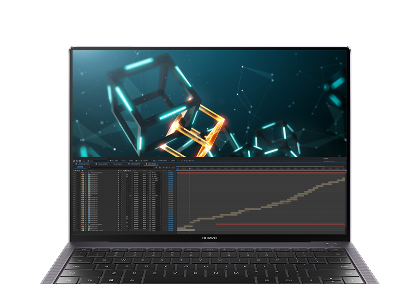 HUAWEI MateBook X Pro with GeForce MX150 perfect for photo and video editing