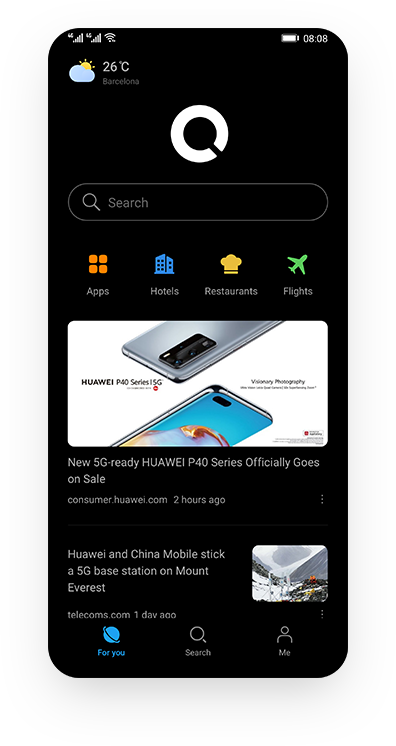 HUAWEI Petal Search Innovative Dark Mode