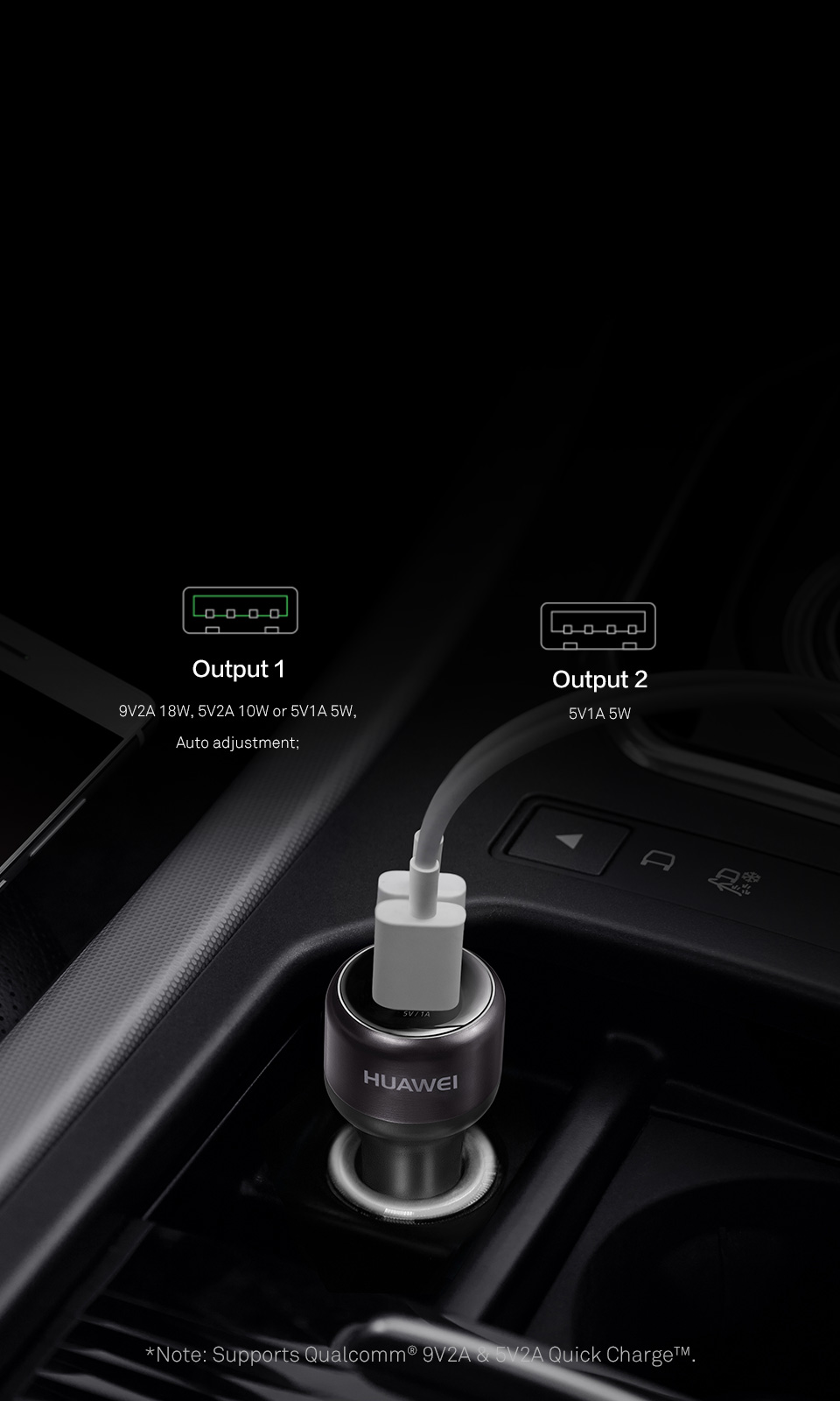 9 فولت 2 أمبير 18 واط QuickCharge™