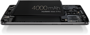 The HUAWEI Mate 9 Pro's whopping 4000mAh battery takes smartphone battery standards to a whole new level