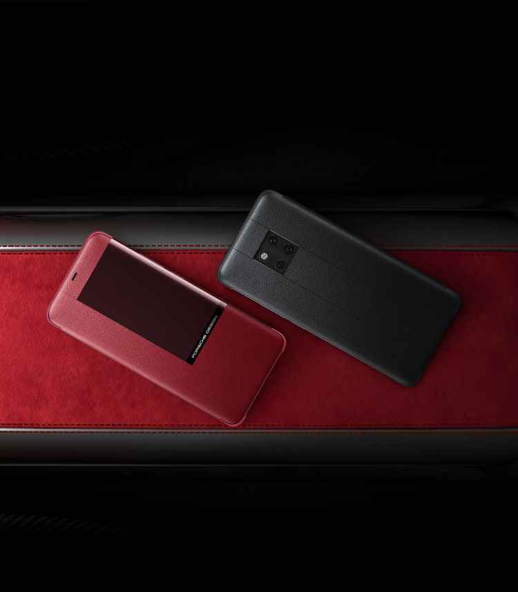 accessories of PORSCHE DESIGN HUAWEI Mate 20 RS with its exclusive wireless charger and case