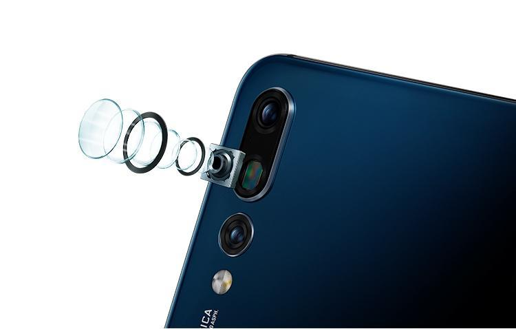 Huawei P20 Pro rear side view triple camera 40 megapixels