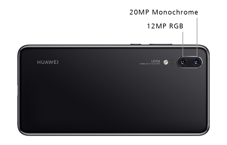 HUAWEI P20 rear side view showing leica triple camera
