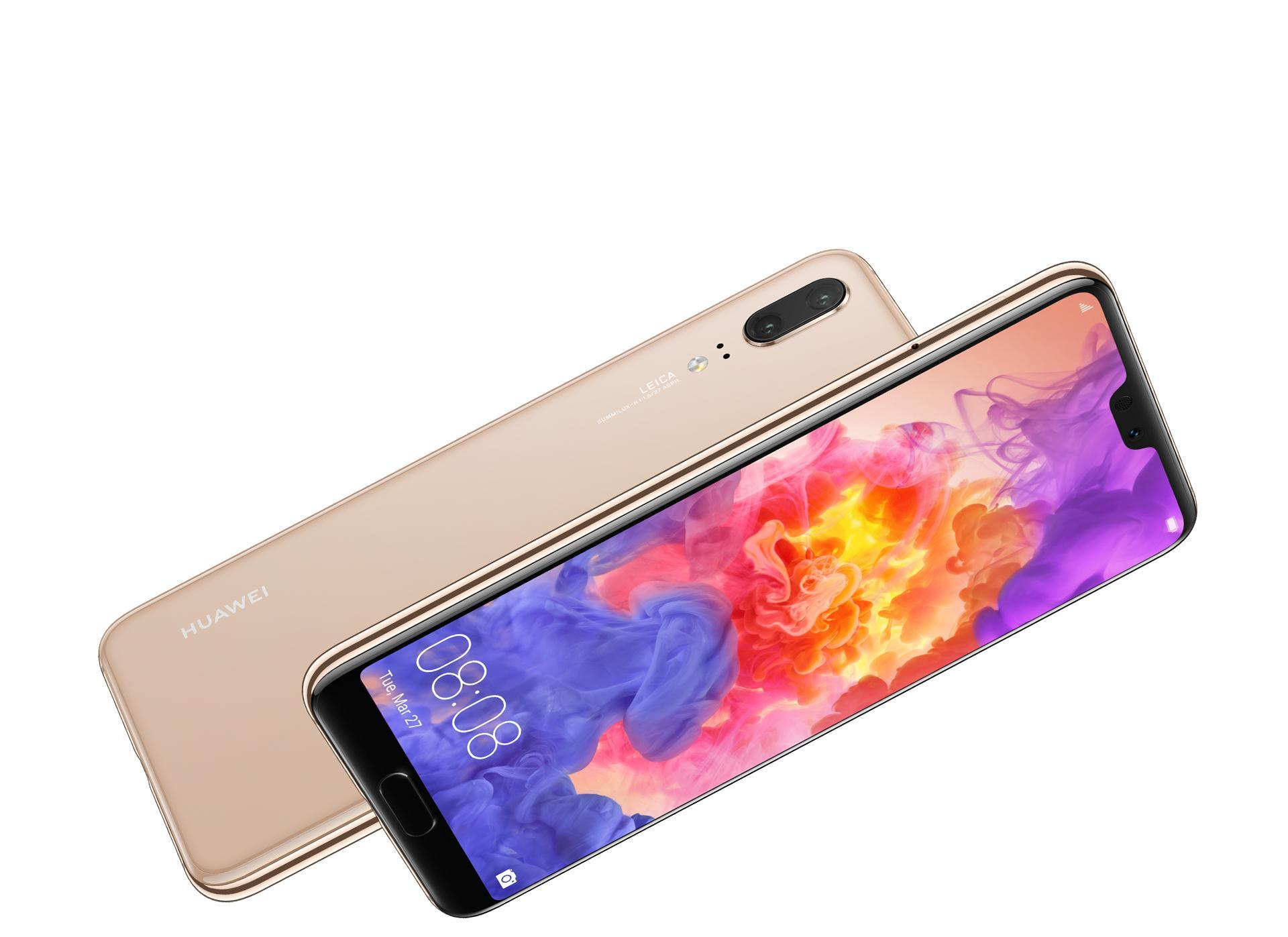 Huawei P20 in gold color