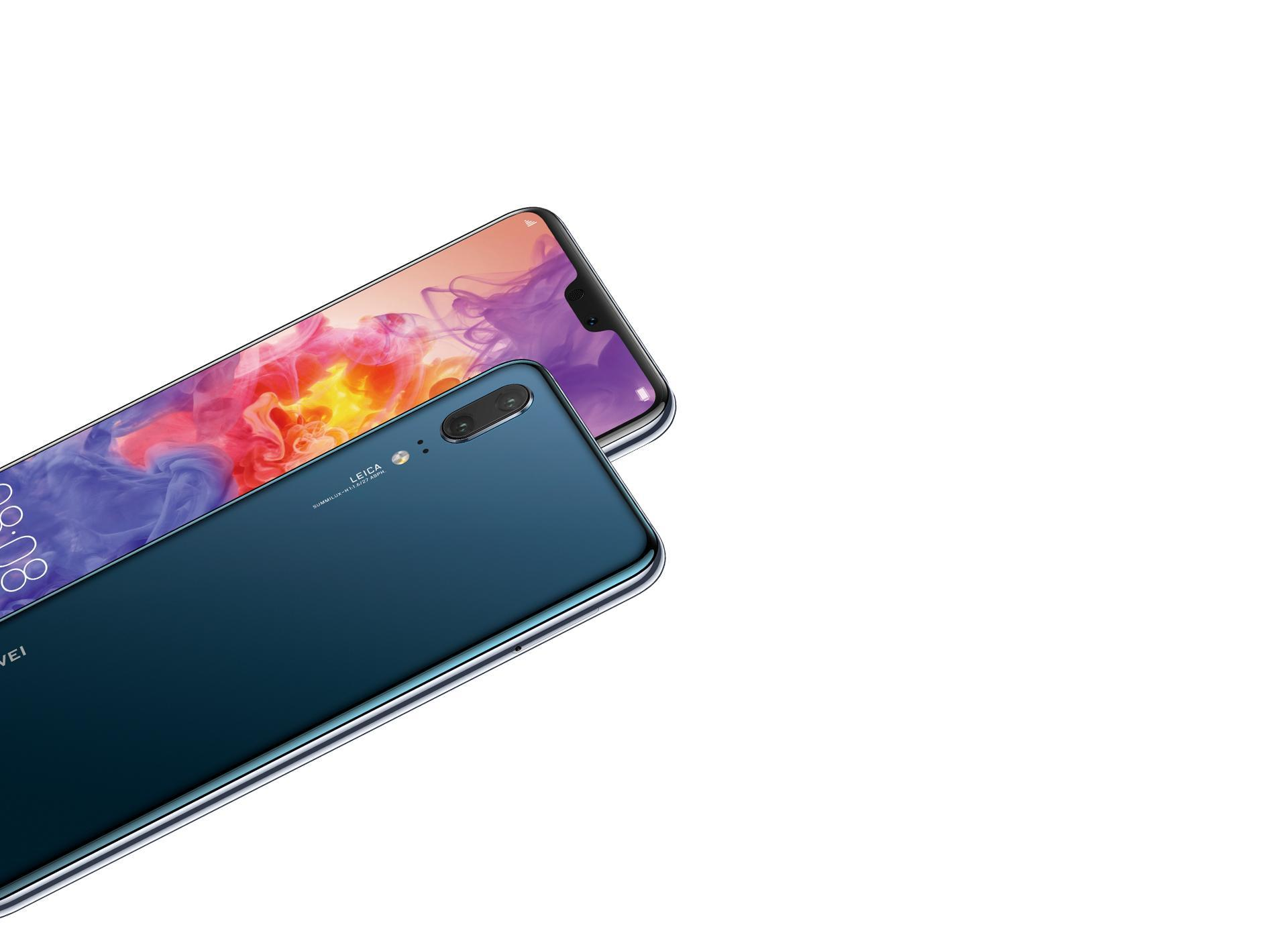 Huawei P20 in blue color