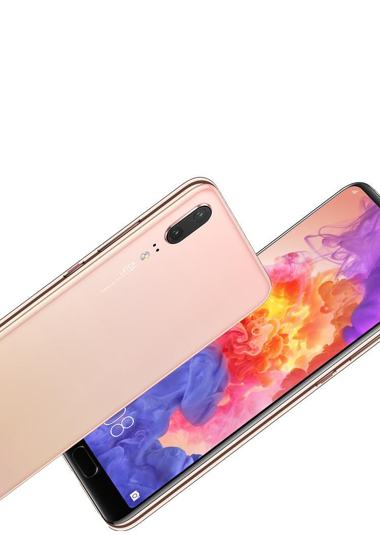 Huawei P20 in peach color
