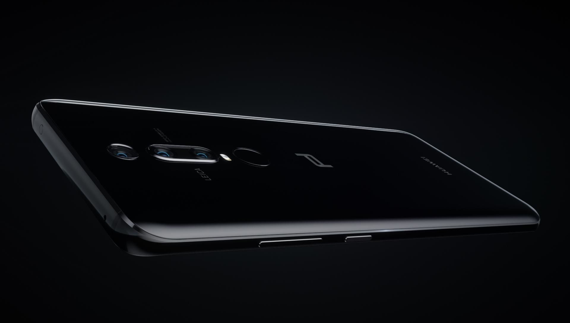 Black Porsche Design HUAWEI Mate RS showing bold curves
