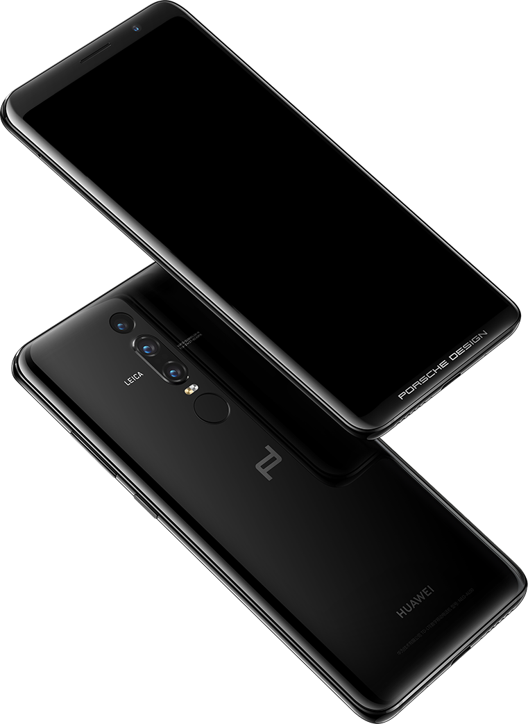 Porsche Design Huawei Mate RS showing front and rear fingerprint identification