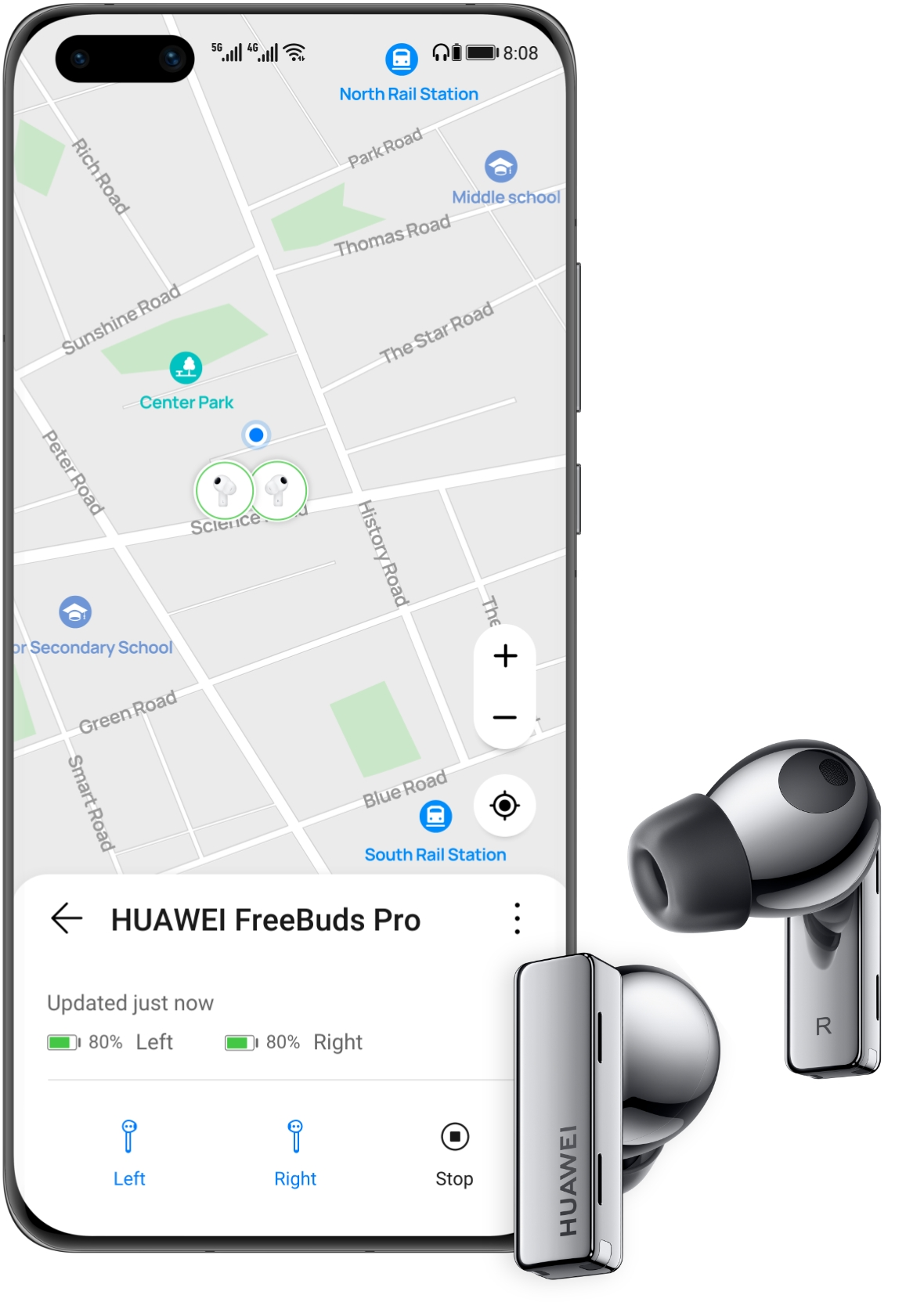 HUAWEI Freelace Pro-pro-Find My Earphones