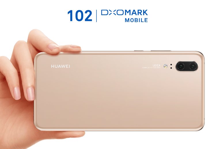 Huawei P20 Pro rear side view showing leica triple camera