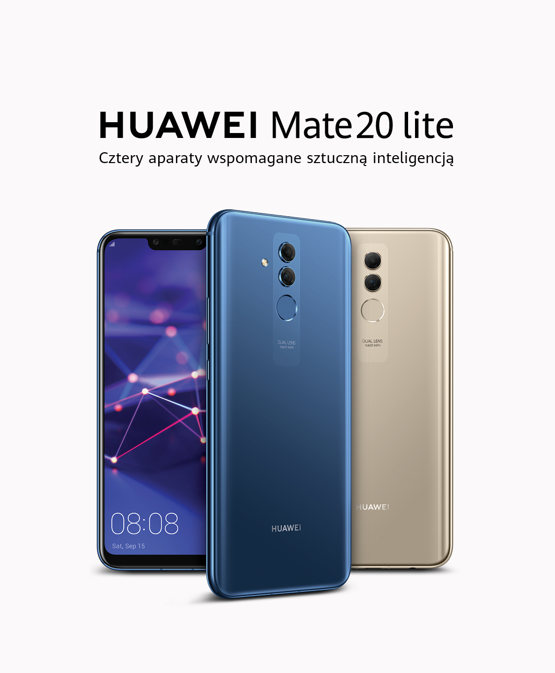 smartfon huawei mate 20 lite poczw rny aparat huawei polska. Black Bedroom Furniture Sets. Home Design Ideas