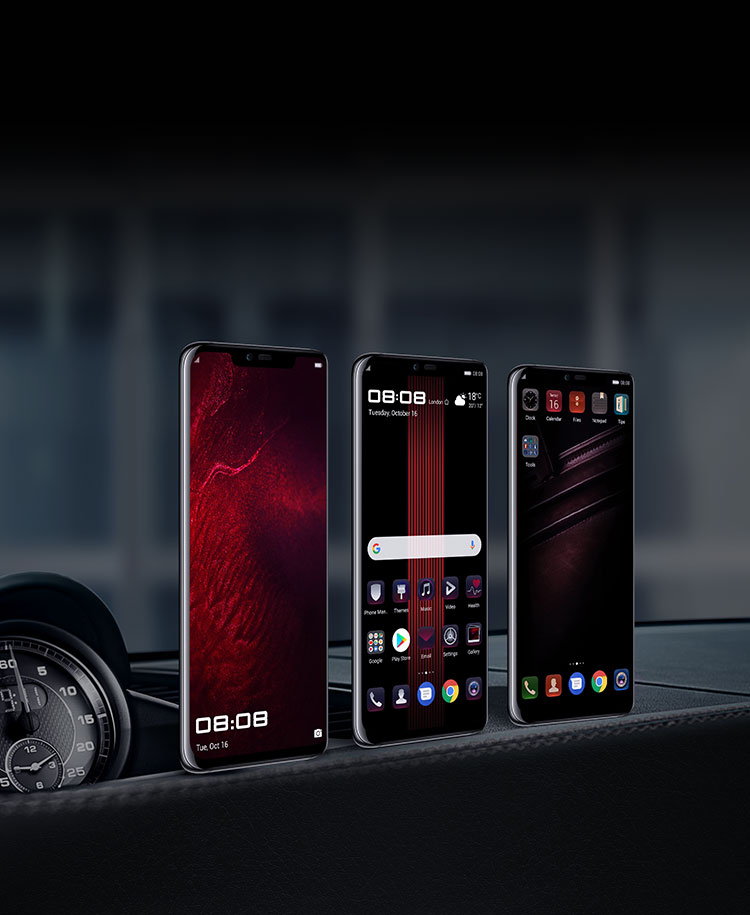 Three different customized UI for wallpaper for PORSCHE DESIGN HUAWEI Mate 20 RS