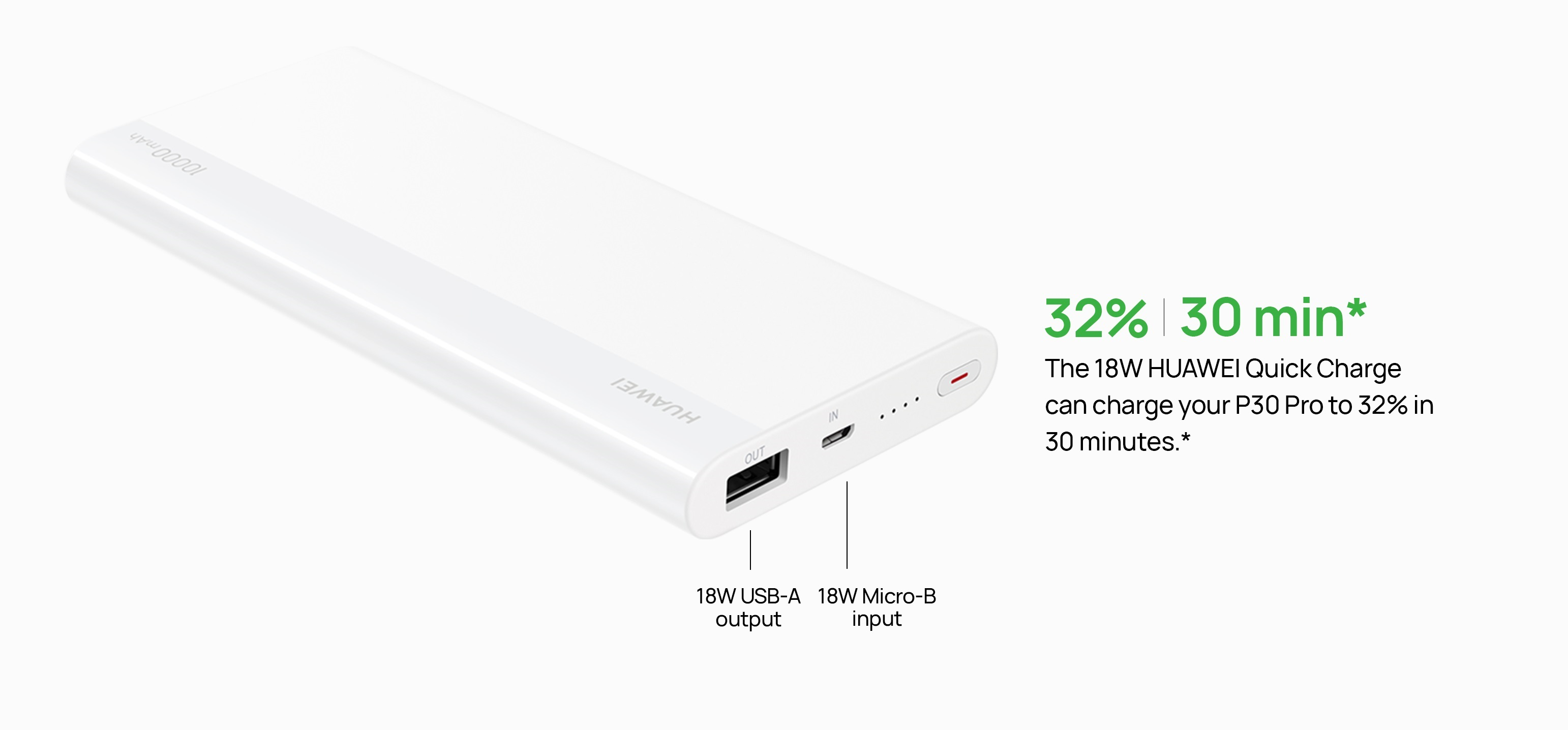 HUAWEI Power Bank 10000mAh (Max 18W) Micro-B