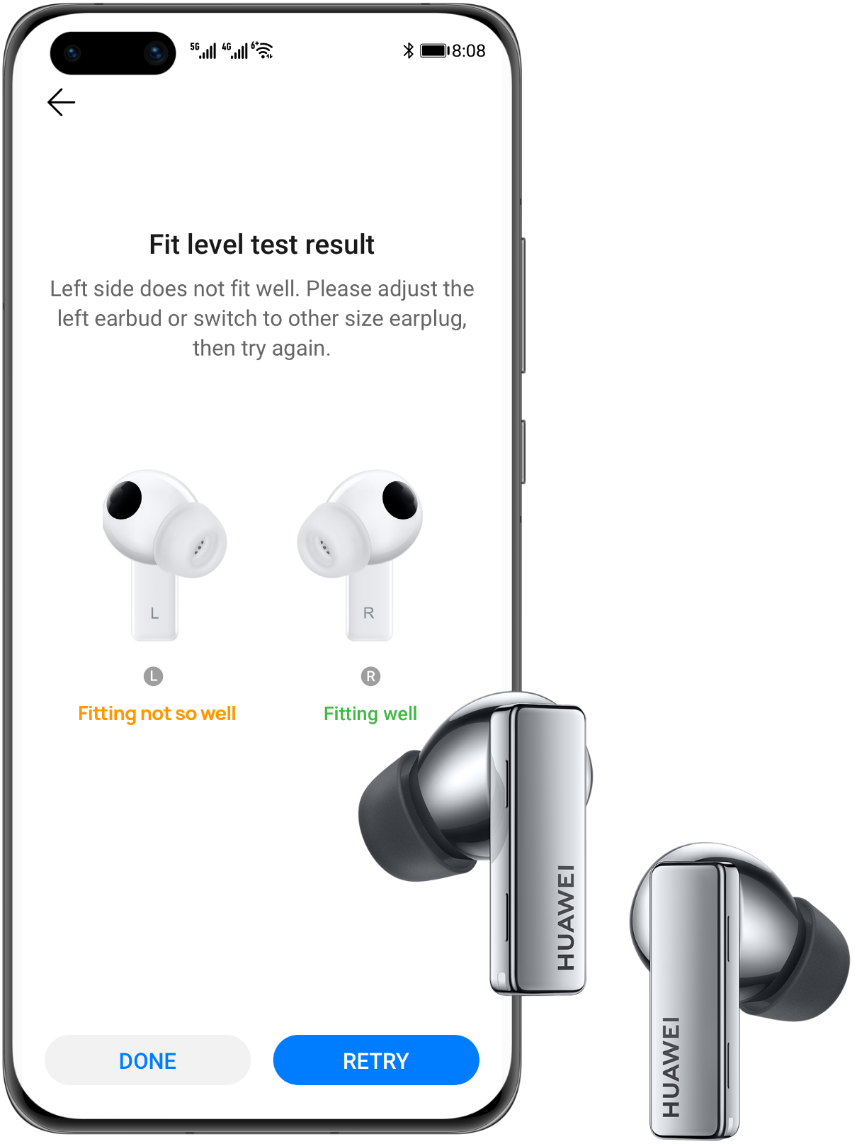 HUAWEI Freelace Pro-fit-detection