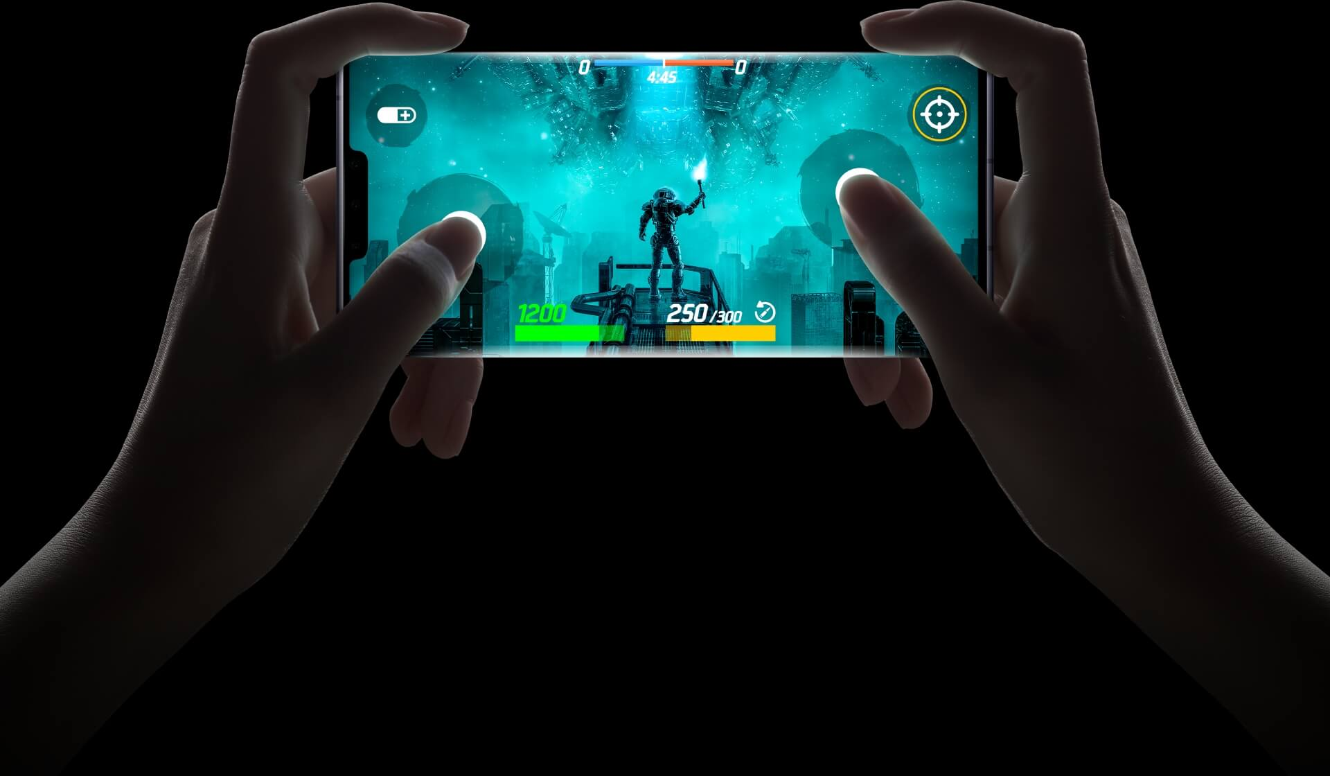 HUAWEI Mate 30 Pro 5G virtual game quad finger control
