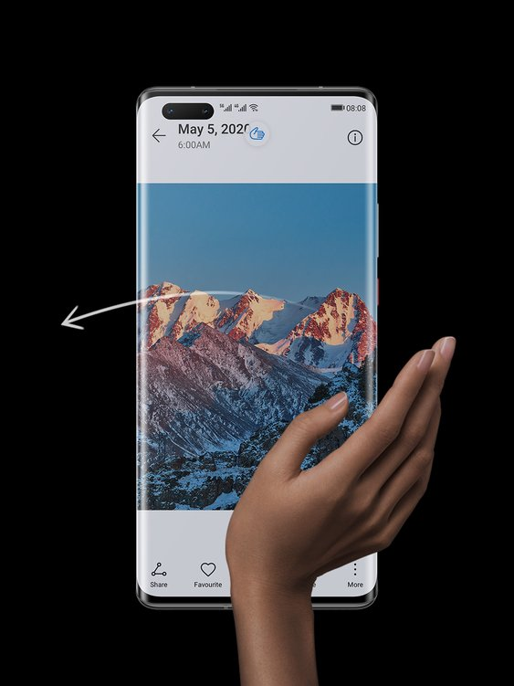 huawei mate 40 pro top features touch-free interaction