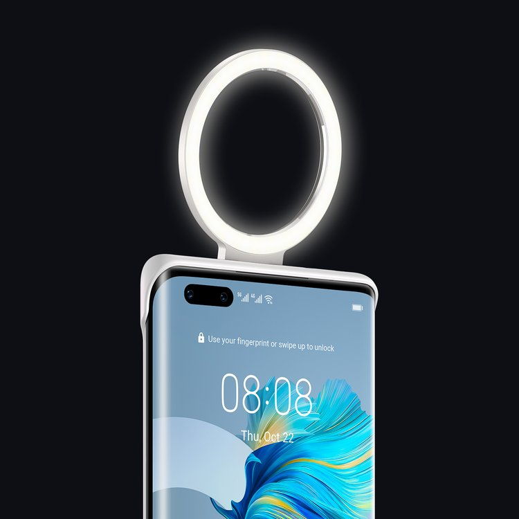 huawei mate 40 pro ring light case