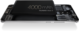 The HUAWEI Mate 9's whopping 4000mAh battery takes smartphone battery standards to a whole new level