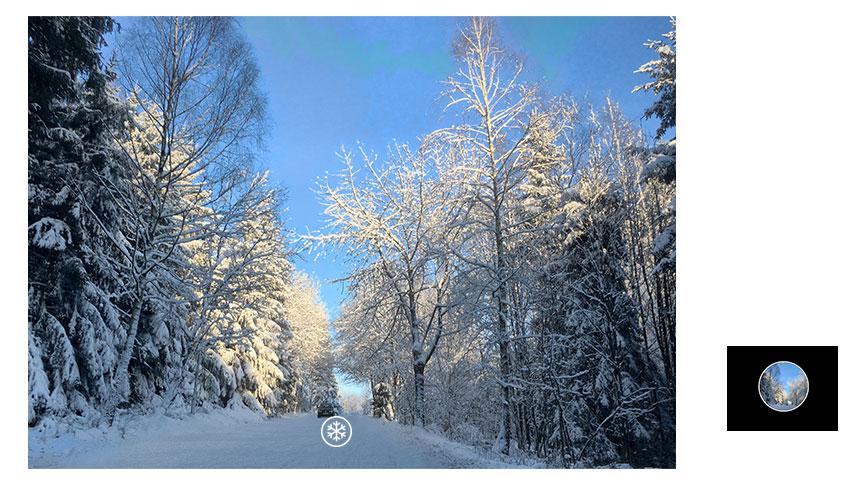 HUAWEI nova 3i camera AI scenes snow