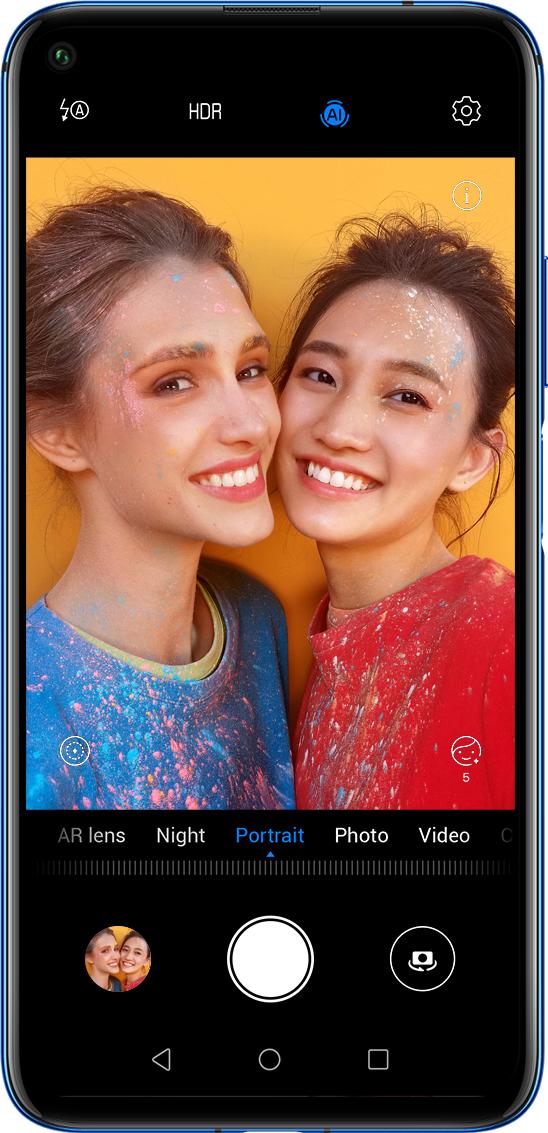 HUAWEI nova 5T front selfie camera