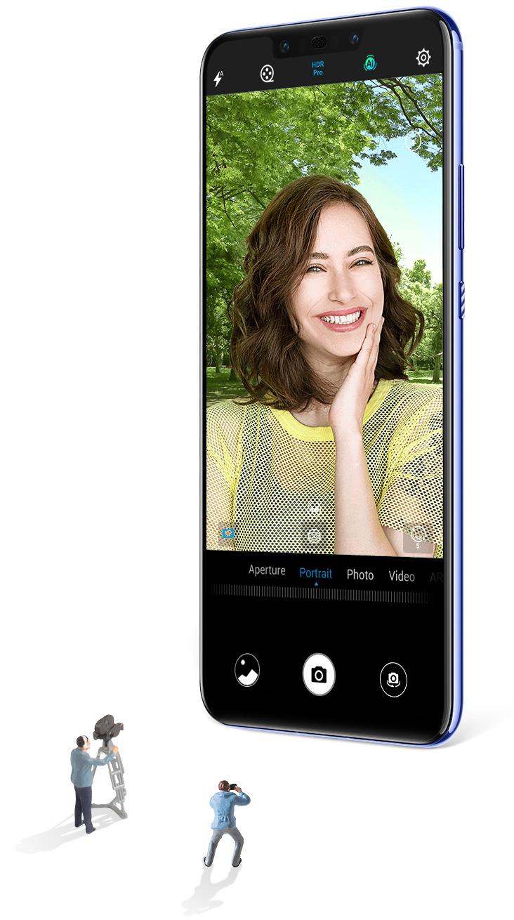 Huawei nova 3 دختران را در صحنه های مختلف نشان می دهد