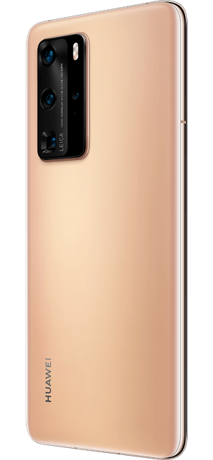 huawei p40 pro blush gold colour right side