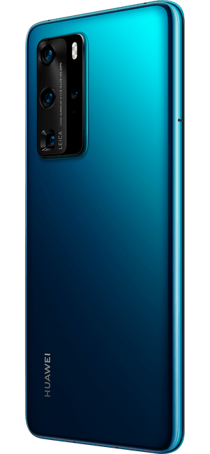 huawei p40 pro deep sea blue colour right side