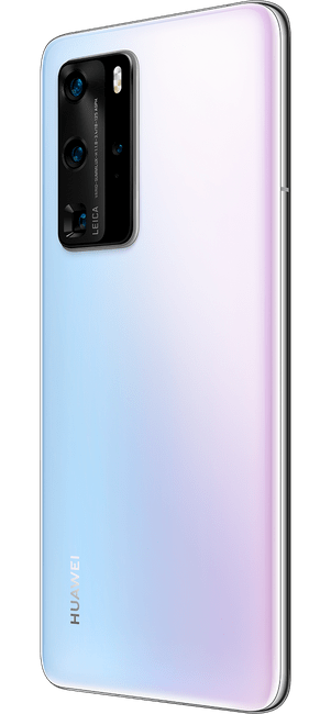 huawei p40 pro ice white colour right side