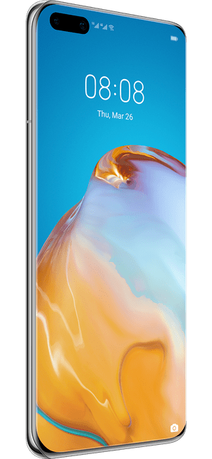 huawei p40 pro ice white colour left side
