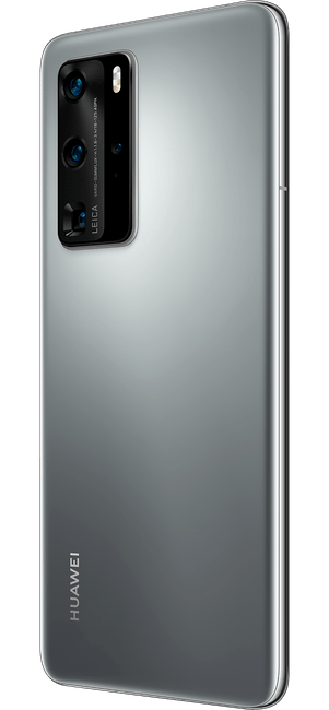 huawei p40 pro silver frost colour right side
