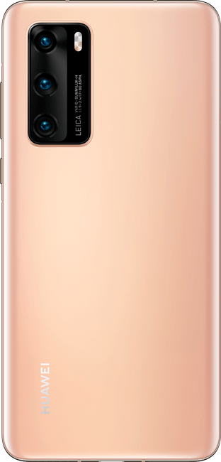 huawei p40 blush gold colour back