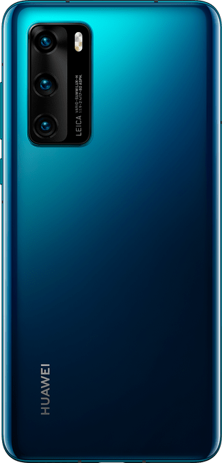 huawei p40 deep sea blue colour back