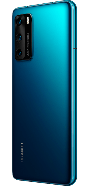 huawei p40 deep sea blue colour right side