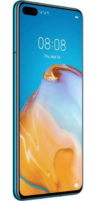 huawei p40 deep sea blue colour left side