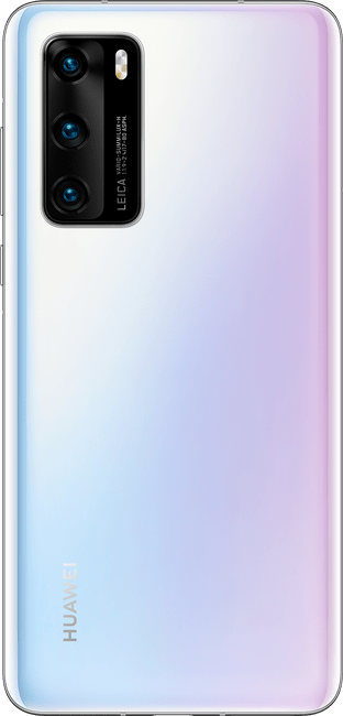 huawei p40 ice white colour back