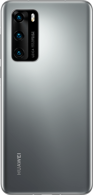 huawei p40 silver frost colour back