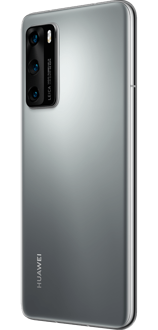 huawei p40 silver frost colour right side