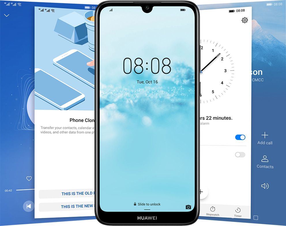HUAWEI Y6 2019, Dewdrop HD Display, Unique Colour Shell Design