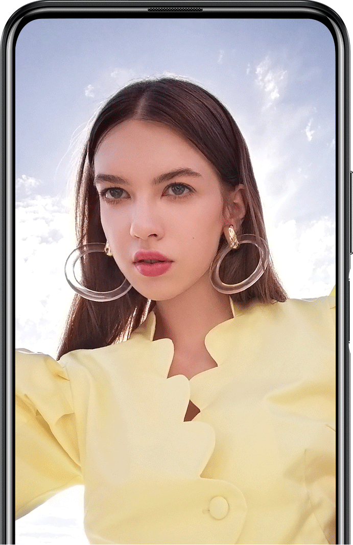 Huawei y9s pop up camera
