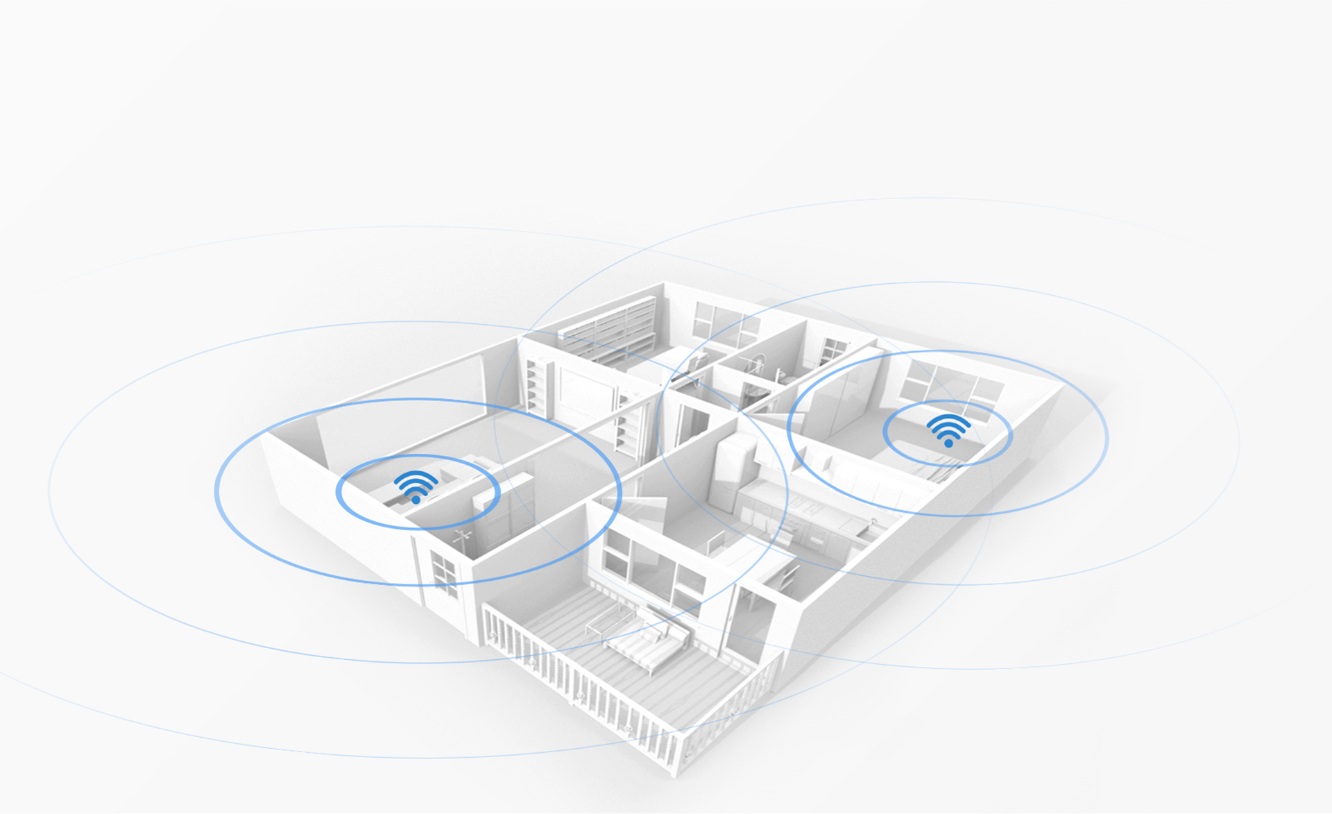 Multi-router mesh networking enables greater Wi-Fi coverage