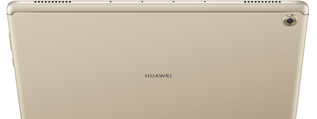 Huawei mediapad m5 lite display showing its back