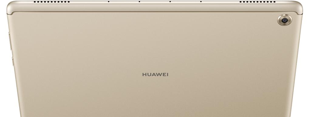 Pantalla Huawei mediapad m5 lite mostrando su parte posterior