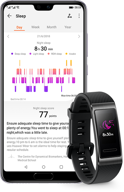 HUAWEI Band 3 Pro Trusleep2.0 sleeping
