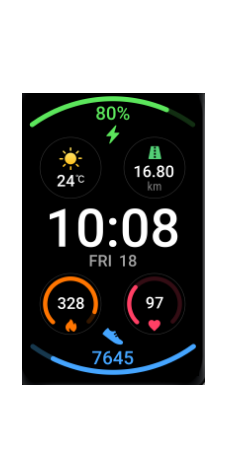 huawei watch fit-colorful watch face