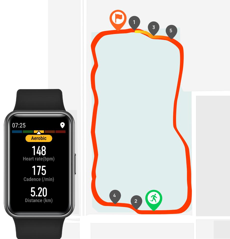 huawei watch fit-gps tracking