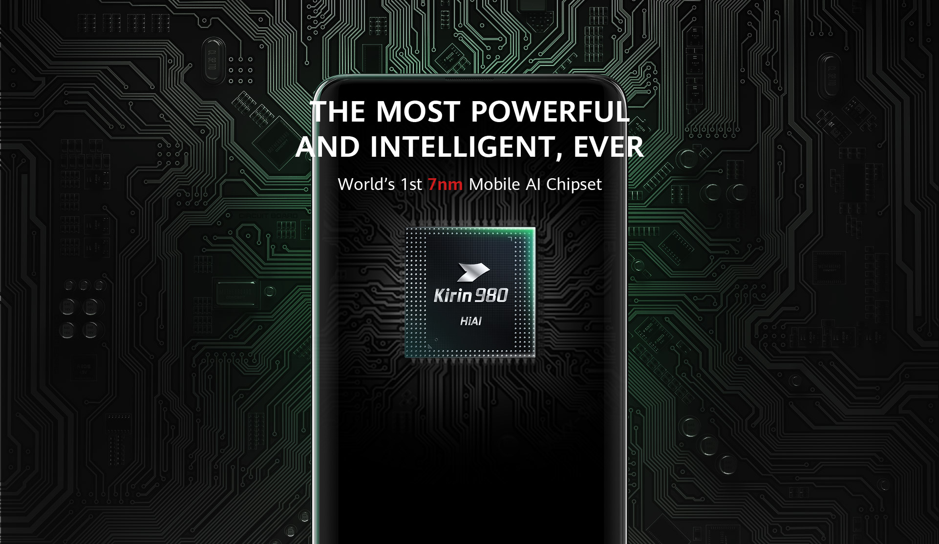 Kirin 980, the World's First 7nm Process Mobile AI Chipset | HUAWEI