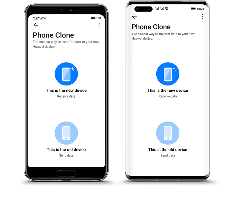 Phone Clone select old and new devices