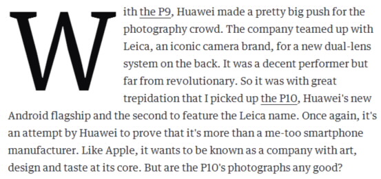 Engadget: Shooting photos with the Leica-branded HUAWEI P10