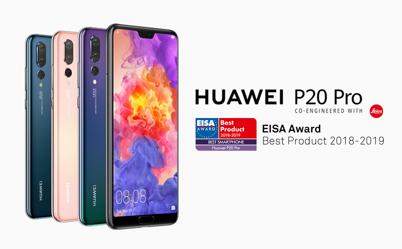"""734f0c42721c Huawei wins """"Best Smartphone of the Year"""" award from EISA for HUAWEI P20 Pro"""