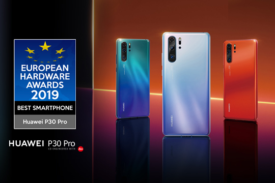 HUAWEI Wins Best Smartphone at the European Hardware Awards 2019